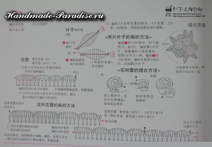 Схема вязания крючком цветов (1)