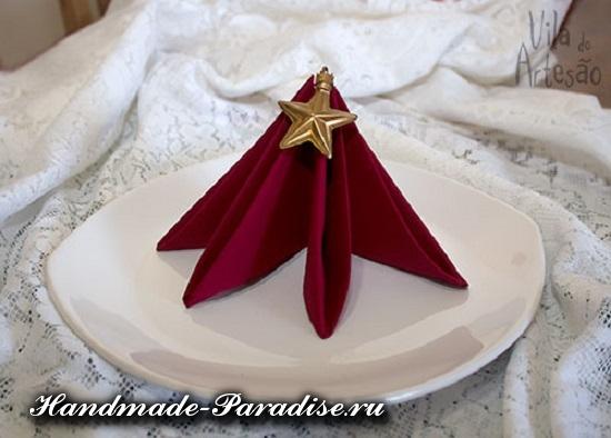 Елочка из салфетки для сервировки стола