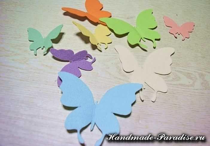 Из фетра - часы с бабочками (8)