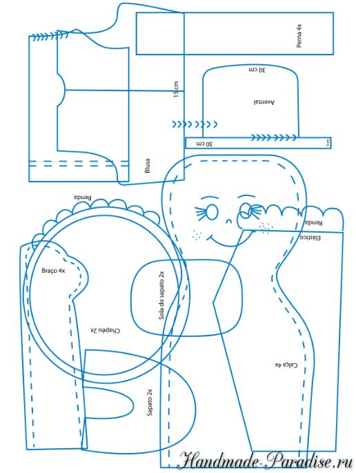 выкройка текстильной куклы (1)