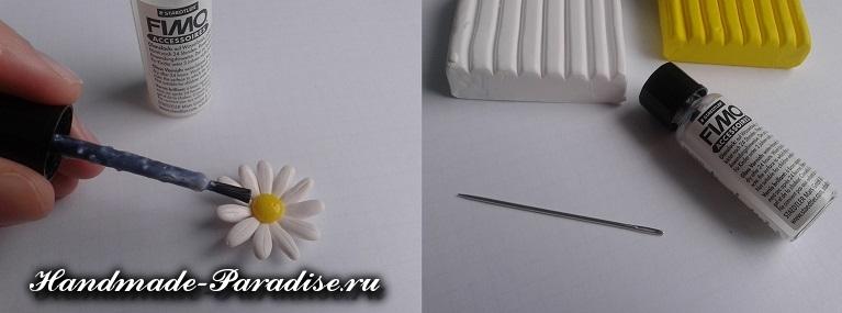 Лепка ромашки из полимерной глины (20)
