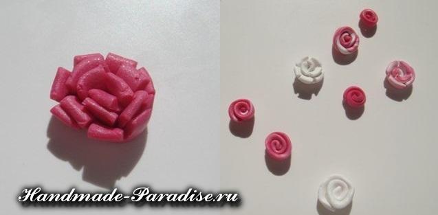 Лепка цветов из полимерной глины (3)