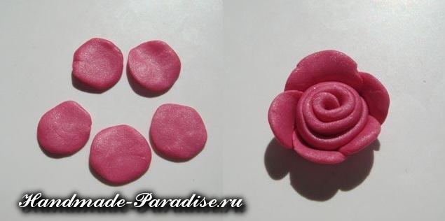 Лепка цветов из полимерной глины (4)