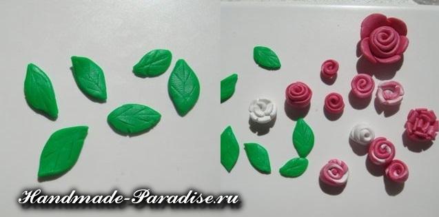 Лепка цветов из полимерной глины (5)