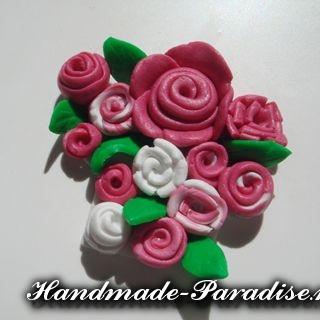 Лепка цветов из полимерной глины (7)
