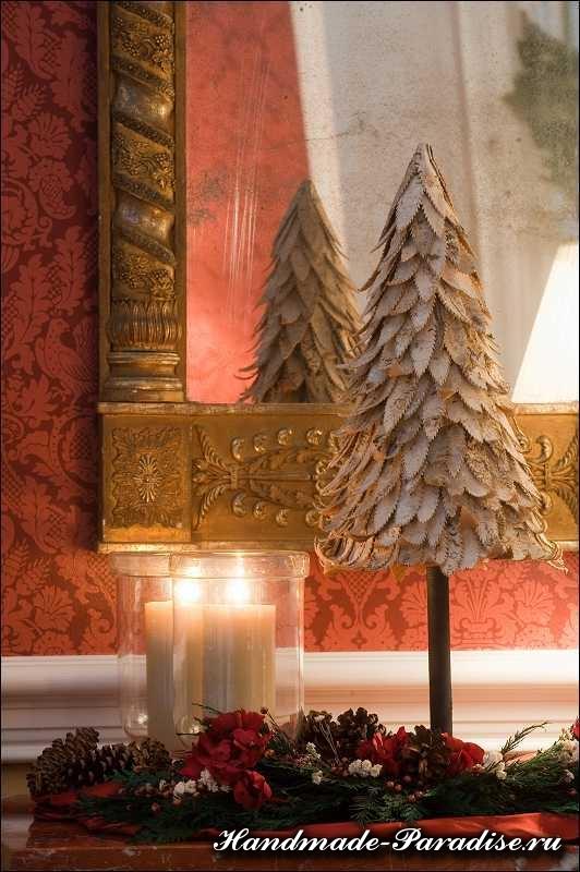 Новогодняя елка из ткани (10)