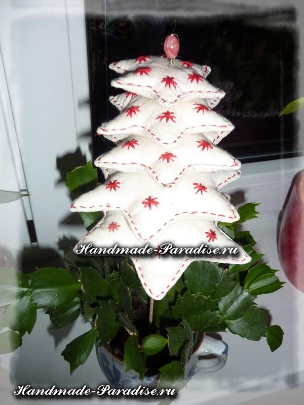 Новогодняя елка из ткани (8)