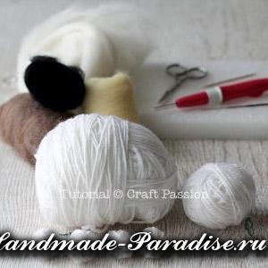 ОВЕЧКА из пряжи и шерсти для валяния (5)