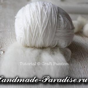ОВЕЧКА из пряжи и шерсти для валяния (6)