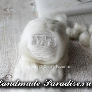 ОВЕЧКА из пряжи и шерсти для валяния (7)