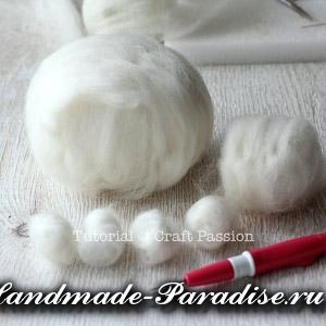 ОВЕЧКА из пряжи и шерсти для валяния (8)