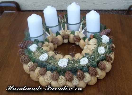 Грецкие орехи в новогоднем декоре (17)