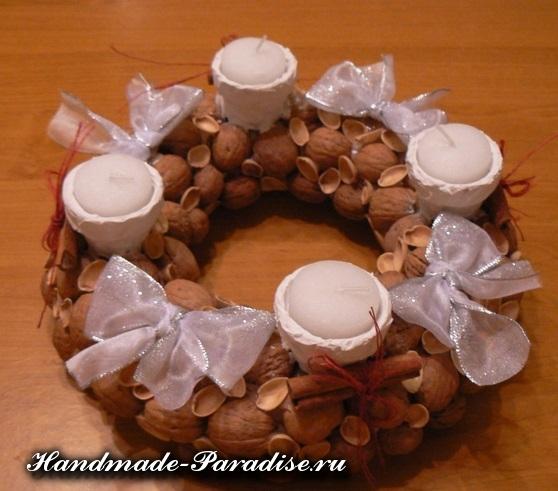 Грецкие орехи в новогоднем декоре (18)