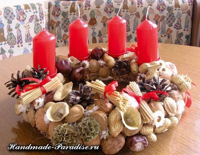 Грецкие орехи в новогоднем декоре (19)