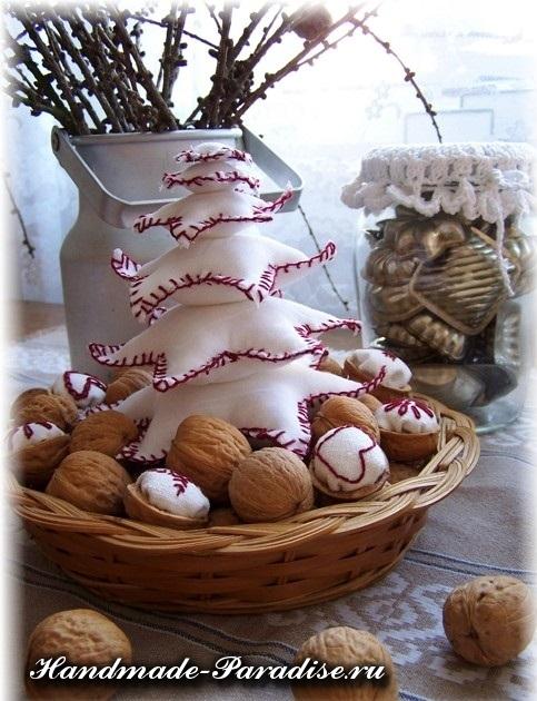 орехи в новогоднем декоре (23)