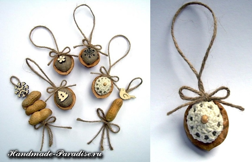Грецкие орехи в новогоднем декоре (7)