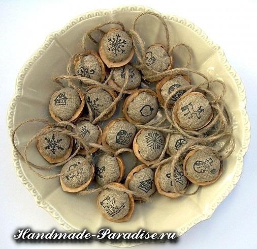 Грецкие орехи в новогоднем декоре (8)