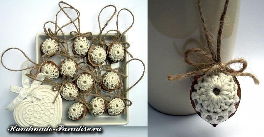 Грецкие орехи в новогоднем декоре (9)