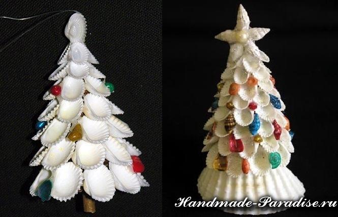 Рождественские ангелы из ракушек (5)
