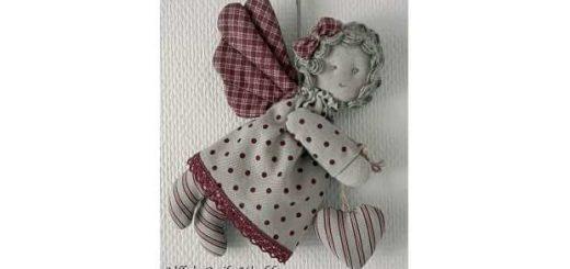 Рождественский текстильный ангел