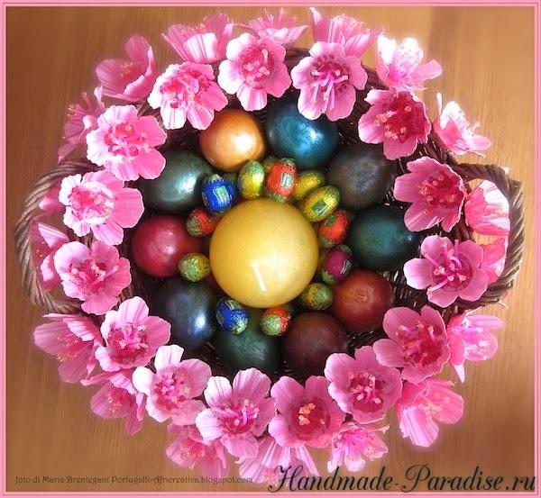 Цветы из яичных лотков (12)