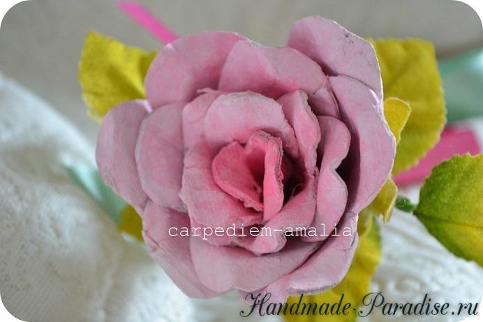 Цветы из яичных лотков (5)