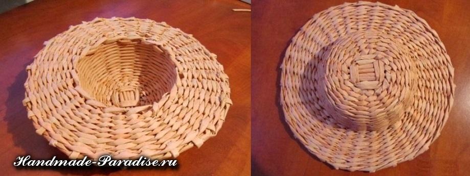 Шляпа из газетных трубочек (37)