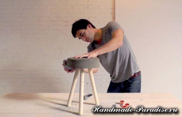 Скамейка из бетона своими руками (7)