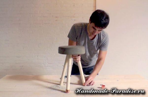 Скамейка из бетона своими руками (9)