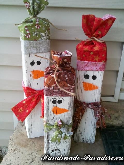 Снеговик из коробок (10)