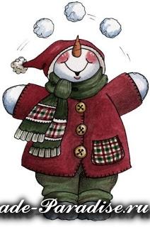 Снеговик из коробок (6)