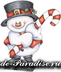 Снеговик из коробок (8)