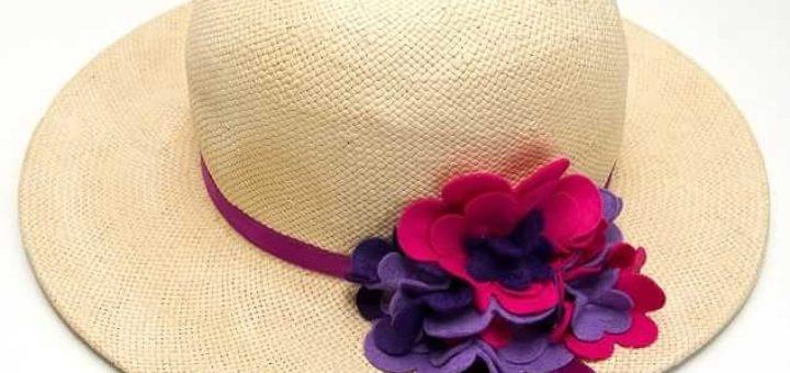 Цветы из фетра для шляпки. Мастер-класс