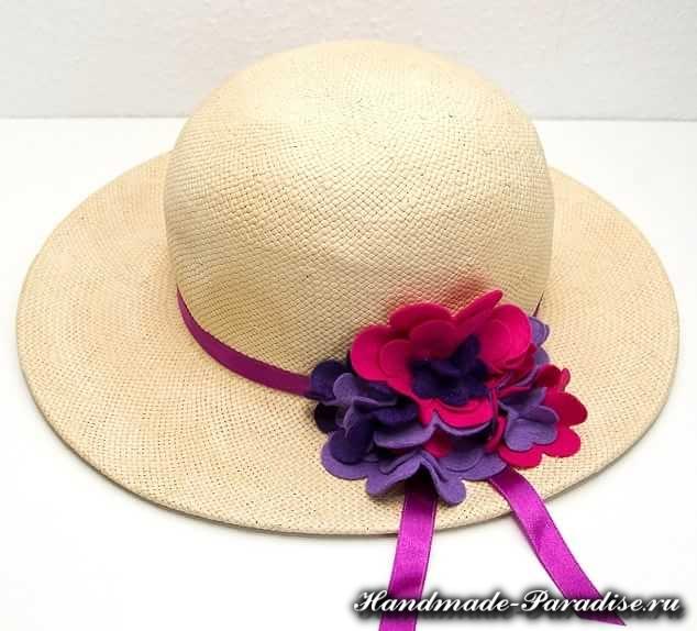 Цветы из фетра для шляпки. Мастер-класс (10)