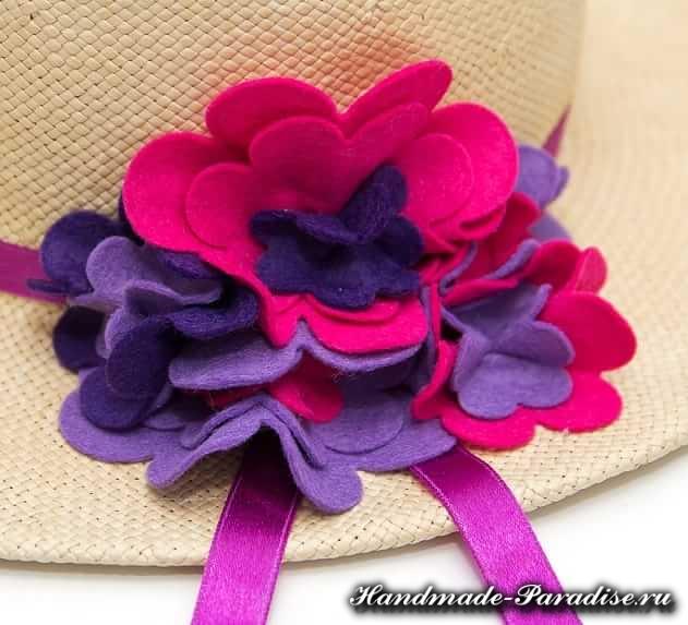 Цветы из фетра для шляпки. Мастер-класс (11)