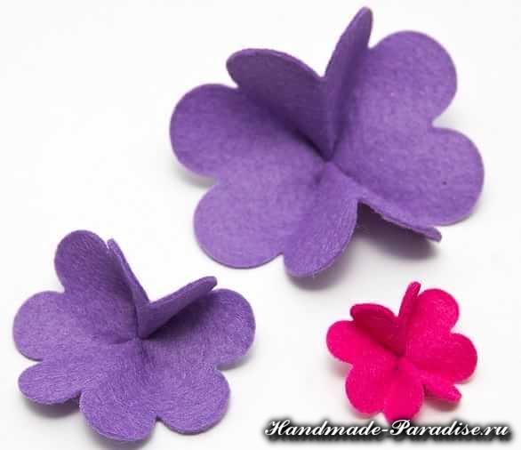 Цветы из фетра для шляпки. Мастер-класс (3)
