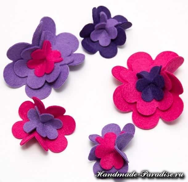 Цветы из фетра (5)