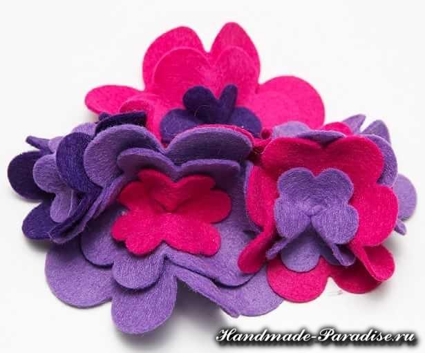 Цветы из ткани (6)