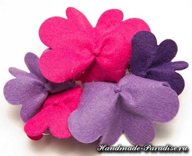 Цветы из ткани (7)