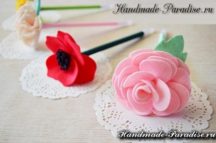 Цветы из фетра для украшения