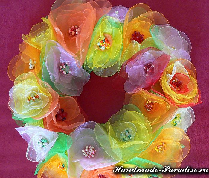 Цветы из органзы. Мастер-класс (10)