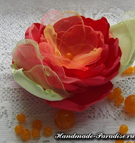 Цветы из органзы. Мастер-класс (11)
