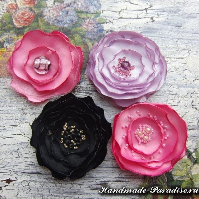 Цветы из органзы. Мастер-класс (2)
