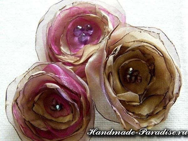 Цветы из органзы. Мастер-класс (8)