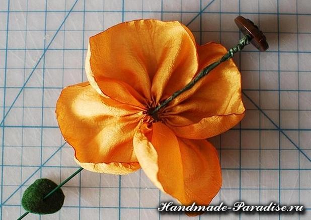 Цветы из ткани (12)