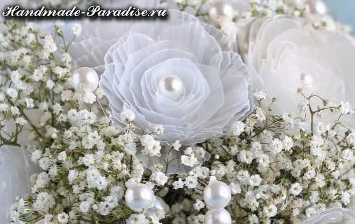Свадебный букет из яичных лотков