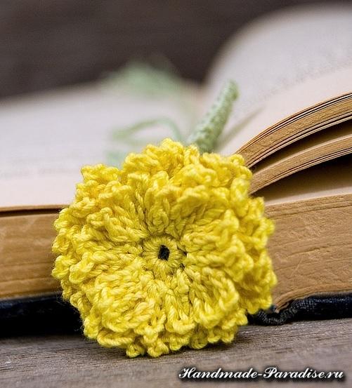 Закладки для книжки - цветы крючком (11)