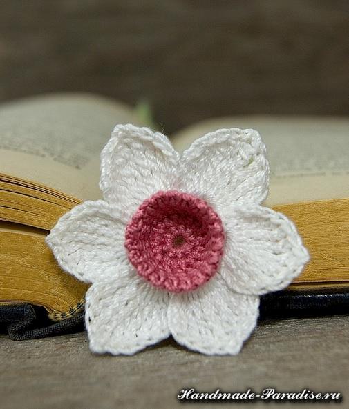 Закладки для книжки - цветы крючком (4)