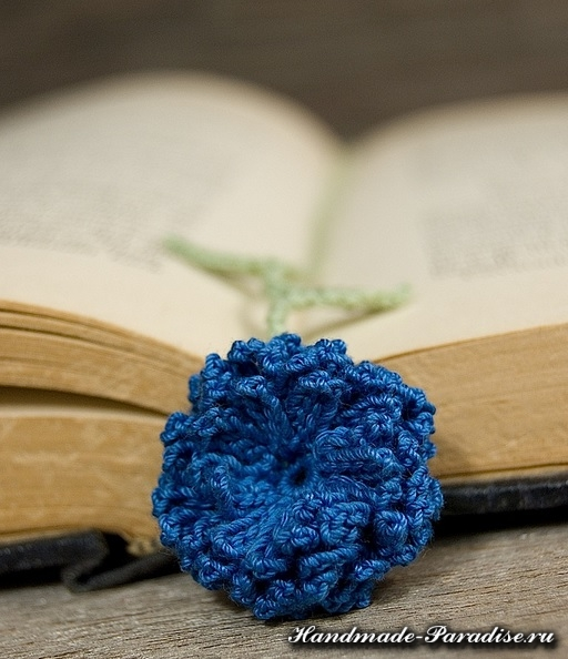 Закладки для книжки - цветы крючком (6)