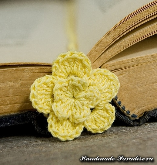 Закладки для книжки - цветы крючком (7)